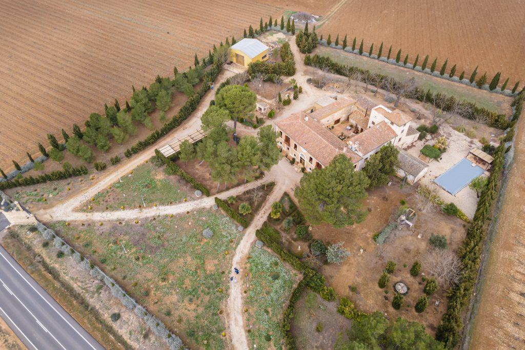 Vista aérea de La Nova Alcudia situada en Fontanars dels Alforins.